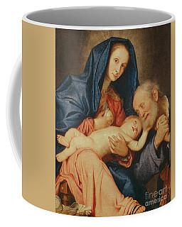 The Holy Family With A Basket  Coffee Mug