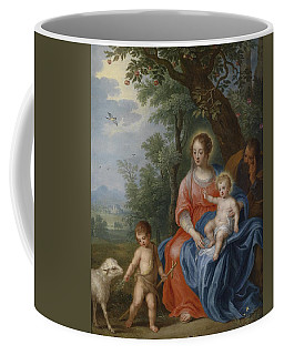 The Holy Family With John The Baptist And The Lamb Coffee Mug