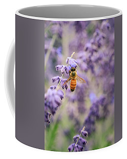 The Honey Bee And The Lavender Coffee Mug