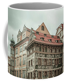 Coffee Mug featuring the photograph The House At The Minute With Graffiti At Old Town Square  by Jenny Rainbow