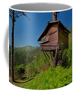 Coffee Mug featuring the photograph The House On The Tree - La Casa Sull'albero by Enrico Pelos