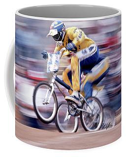 The Human Dragster, Tommy Brackens 1985 Coffee Mug