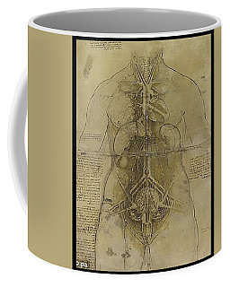 Coffee Mug featuring the painting The Human Organ System by James Christopher Hill