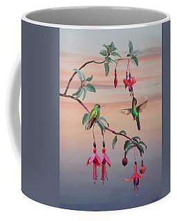 The Hummingbird Fuchsia Coffee Mug