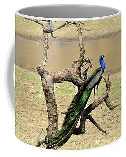 The Indian Peafowl Coffee Mug by Manjot Singh Sachdeva