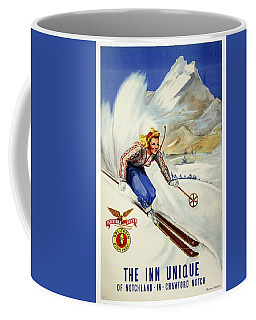 The Inn Unique Of Notchland - In - Crawford Notch - Retro Travel Poster - Vintage Poster Coffee Mug
