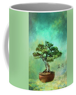 Coffee Mug featuring the photograph The Inner Spirit Of Bonsai by John Rivera