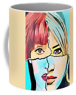 The Inner Struggle Split Personality Abstract Coffee Mug