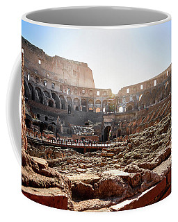 The Interior Of The Roman Coliseum Coffee Mug