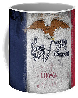 Coffee Mug featuring the digital art The Iowa Flag by JC Findley