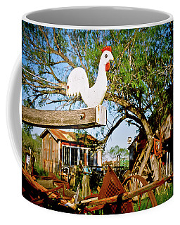 Coffee Mug featuring the photograph The Iron Chicken by Linda Unger