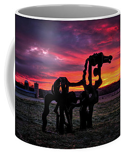 The Iron Horse Sun Up Art Coffee Mug