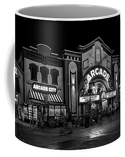 The Island Arcade In Black And White Coffee Mug