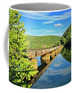 The James River Trestle Bridge, Va Coffee Mug