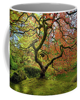 The Japanese Maple Tree In Spring Coffee Mug