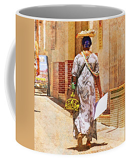 Coffee Mug featuring the photograph The Jewelry Seller - Malaga Spain by Mary Machare