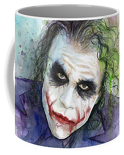 The Joker Watercolor Coffee Mug