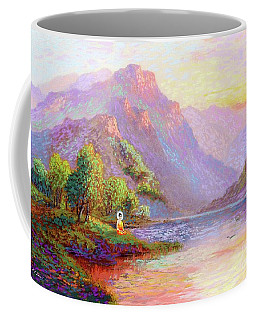 The Joy Of Being Buddha Meditation Coffee Mug