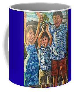 Coffee Mug featuring the painting The Joy Of Childhood by Belinda Low