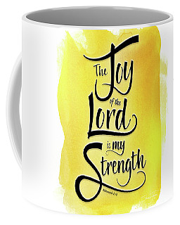 The Joy Of The Lord - Yellow Coffee Mug
