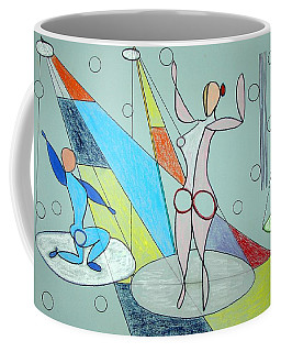 Coffee Mug featuring the drawing The Jugglers by J R Seymour