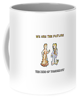 Coffee Mug featuring the digital art The Kids Of Tomorrow Corie And Albert by Shawn Dall