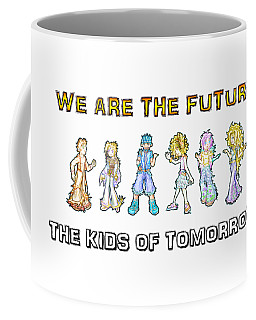 Coffee Mug featuring the digital art The Kids Of Tomorrow by Shawn Dall