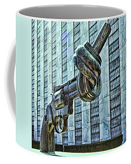 The Knotted Gun Coffee Mug by Allen Beatty