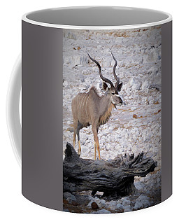 The Kudu In Namibia Coffee Mug by Ernie Echols