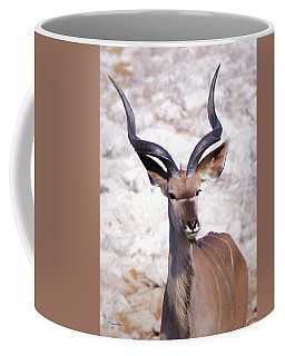 The Kudu Portrait 2 Coffee Mug by Ernie Echols
