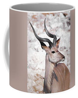 The Kudu Portrait Coffee Mug by Ernie Echols