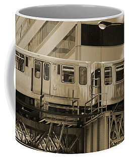 The L Downtown Chicago In Sepia Coffee Mug