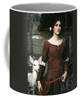 Coffee Mug featuring the painting The Lady Clare by John William Waterhouse