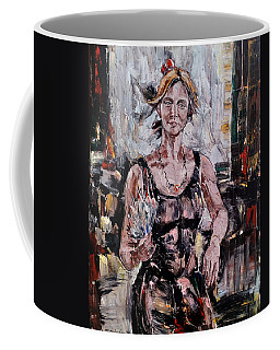 The Lady With The Fan Coffee Mug