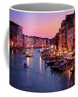 The Blue Hour From The Rialto Bridge In Venice, Italy Coffee Mug