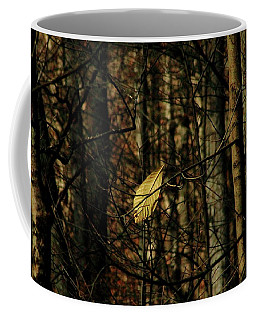 Coffee Mug featuring the photograph The Last Leaf by Bruce Patrick Smith