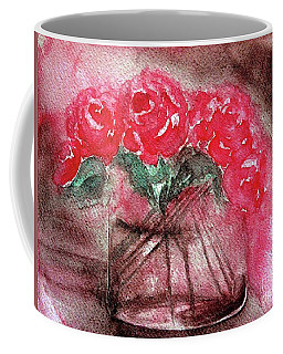 The Last Red Roses Coffee Mug by Jasna Dragun