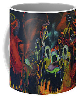 Coffee Mug featuring the painting The Last Supper by Christophe Ennis