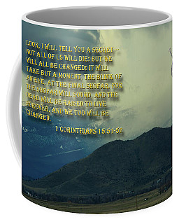 Coffee Mug featuring the photograph The Last Trump by Tikvah's Hope