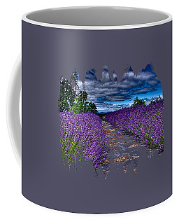 Coffee Mug featuring the photograph The Lavender Field by Thom Zehrfeld