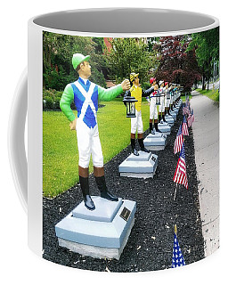 The Lawn Jockeys Of Saratoga Springs Coffee Mug