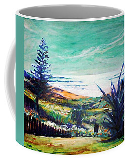 Coffee Mug featuring the painting The Lawn Pandanus by Winsome Gunning