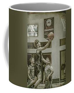 Coffee Mug featuring the photograph The Layup by Ronald Santini