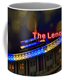Coffee Mug featuring the photograph The Lenox And The Pru - Boston Marathon Colors by Joann Vitali