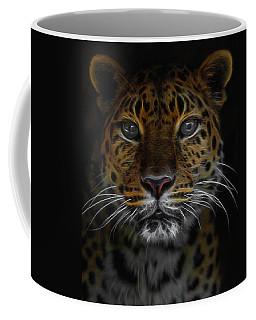 The Leopard Digital Art Coffee Mug
