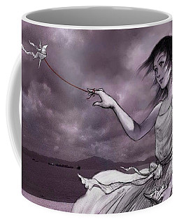 Coffee Mug featuring the digital art The Letter by Jieming Wang