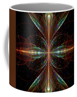 Coffee Mug featuring the digital art The Light Within by Lea Wiggins