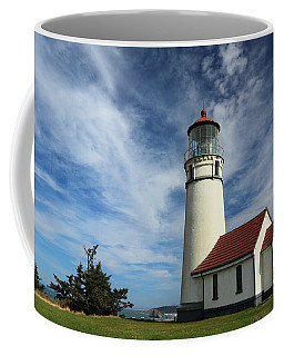 The Lighthouse At Cape Blanco Coffee Mug by James Eddy