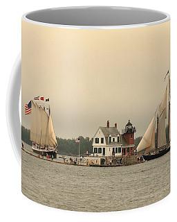 The Lighthouse At Rockland Coffee Mug