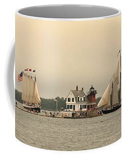 The Lighthouse At Rockland Coffee Mug